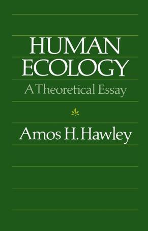 Chicago ecology essay human original paperback theoretical