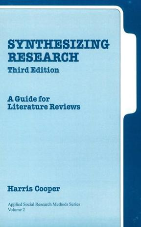 synthesizing research a guide for literature reviews cooper A 5-step guide to the literature review step 1: determine purpose & scope step 2: conduct searches of the literature step 3: organize, manage & cite sources step 4: synthesize & analyze the literature step 5: structure & write the review the first step is to determine your topic and frame the scope of the review.