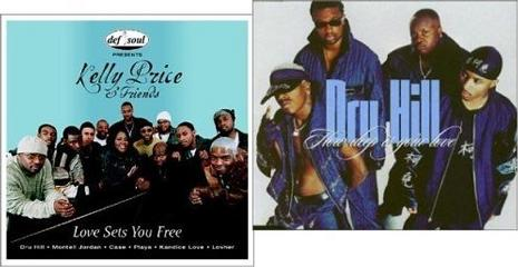 {2 CDs} KELLY PRICE & FRIENDS - LOVE SETS YOU FREE (featuring: Dru Hill, Montell Jordan, Case, Playa, Kandice Love, Lovher, R. Kelly) / DRU HILL - HOW DEEP IS YOUR LOVE (Featuring: Redman)