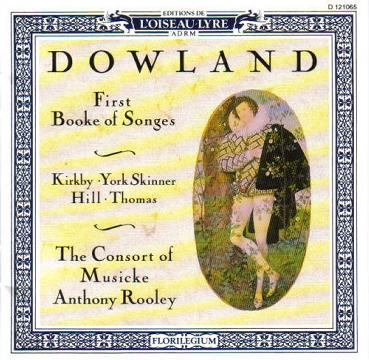 Dowland: First Booke of Songes (1597)