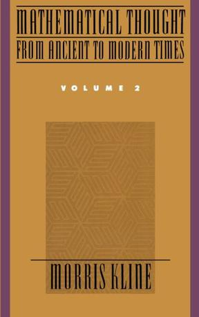 Mathematical Thought From Ancient To Modern Times Vol 2 豆瓣 border=