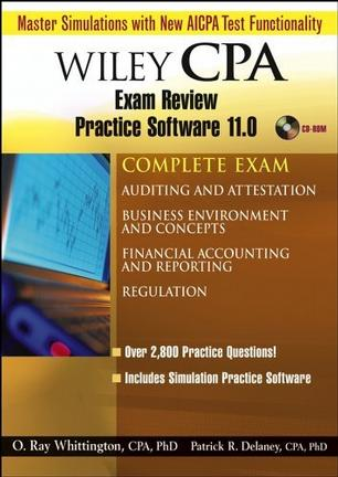 Wiley CPA Examination Review Practice Software 11.0