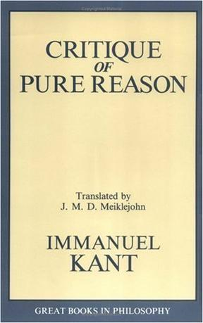 Critique of Pure Reason (Great Books in Philosophy)