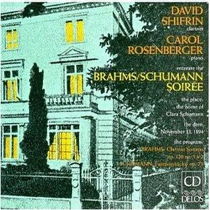 Recreate The Brahms & Schumann Soiree, David Shifrin