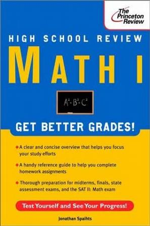 High School Math I Review (Princeton Review Series)