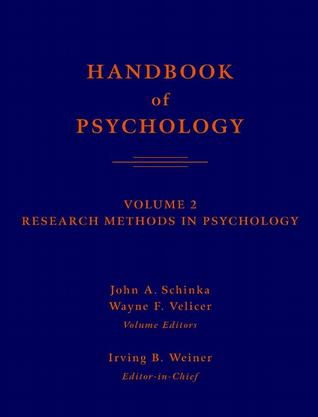 Handbook Of Psychology - Vol 02 - Research Methods in Psychology