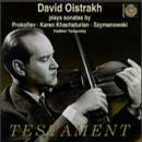 Oistrakh Plays Violin Sonatas By Prokofiev, Khachaturian, Szymanowski