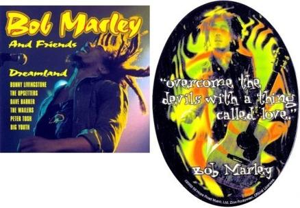 "{Limited Edition} Bob Marley and friends - Dreamland ""CD & Bumper Sticker"" [featuring: the Wailers / The Upsetters / Peter Tosh / Big Youth / Dave Barker & Bunny Livingston"