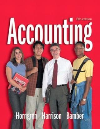 Accounting 1-26 and Integrator CD (6th Edition) (Charles T Horngren Series in Accounting)