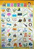 双语日常用品/21世纪凹凸版儿童塑料挂图