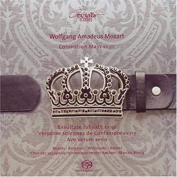 Mozart: Coronation Mass; Motet 'Exsultate, jubilate'; Vesperae solemnes de confessore; Ave Verum corpus [Hybrid SACD]