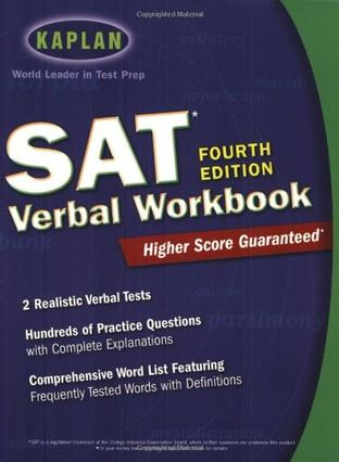 Kaplan SAT Verbal Workbook, 4th Edition