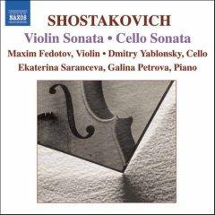 Shostakovich Violin Sonata & Cello Sonata