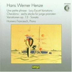 Henze:Une petite phrase;Lucy Escott Variations;6 Pieces for Young Pianists;Piano Variations,Op.13