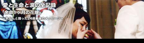愛と生命と涙の全記録「余命一ヶ月の花嫁」~乳がんと闘った24歳~最後のメッセージ