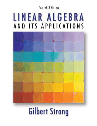 Linear Algebra and Its Applications, 4e