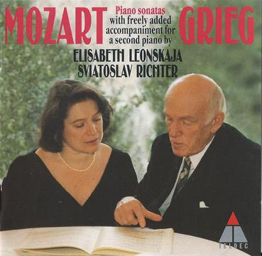 Mozart Piano Sonatas with freely added accompaniments for a second piano by Grieg