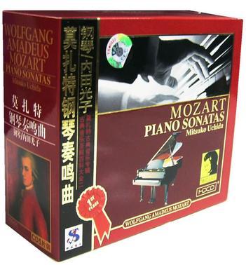 莫扎特钢琴奏鸣曲 钢琴/内田光子5片装(CD)