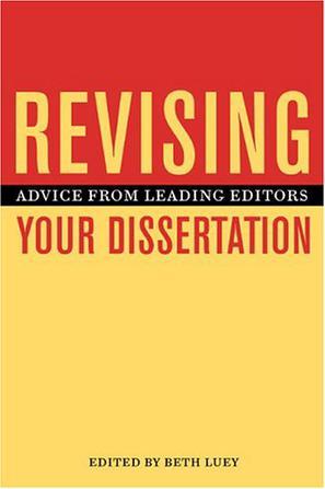 Revising Your Dissertation