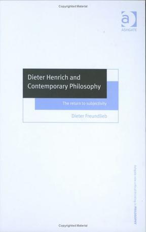 Dieter Henrich and Contemporary Philosophy