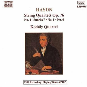 Haydn: String Quartets, Op. 76, Nos. 4, 5 and 6
