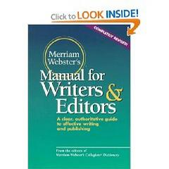 Merriam-Webster's Manual for Writers and Editors