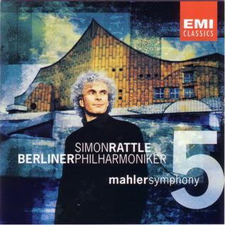 进口CD:马勒:第5交响曲(西蒙.拉特尔指挥柏林爱(5 57385 2 3)
