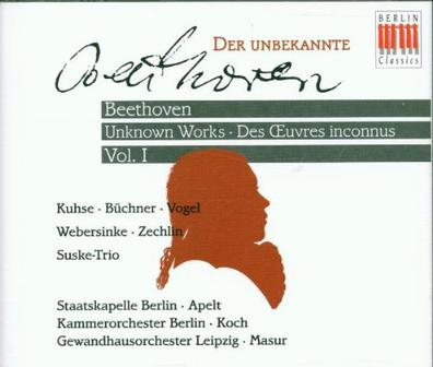 Beethoven: Der Unbekannte, Vol. I [Unknown Works 1]