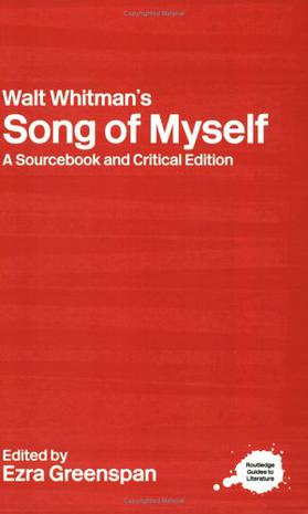 Routledge Literary Sourcebook on Walt Whitman's Song of Myself