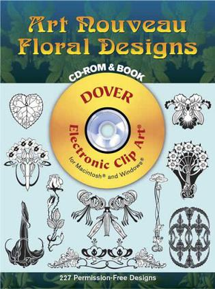 Art Nouveau Floral Designs CD-ROM and Book 新艺术花卉设计