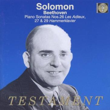 Solomon: Beethoven: Piano Sonatas Nos. 26, 27 And 29