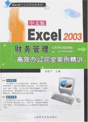 中文版Excel 2003财务管理高效办公完全案例精讲