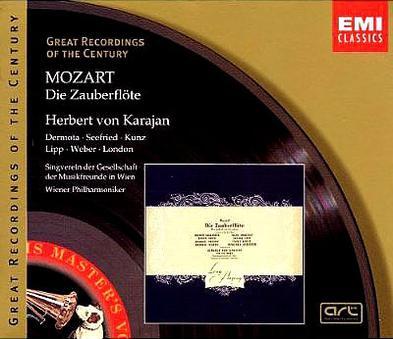 Great Recordings Of The Century - Mozart: Die Zauberflöte / Karajan, Dermota, Seefried, Lipp, et al