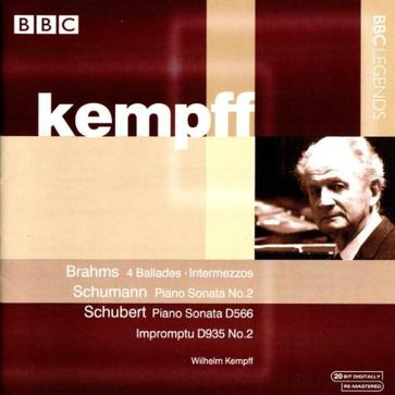 Brahms: 4 Ballades; Intermezzos; Schumann: Piano Sonata No. 2; Schubert: Piano Sonata D566