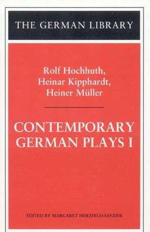 Contemporary German Plays I (German Library)