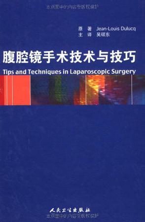 腹腔镜手术技术与技巧