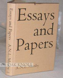 Essays and Papers