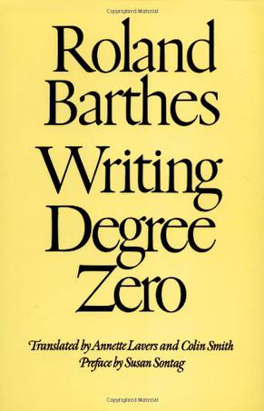 Writing Degree Zero