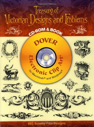 Treasury of Victorian Designs and Emblems CD-ROM and Book