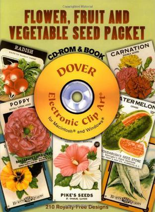 Flower, Fruit and Vegetable Seed Packet CD-ROM and Book