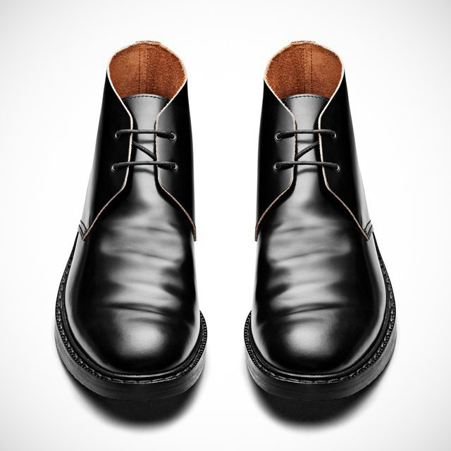 Pedro Black Desert Boot by Acne - $580的图片