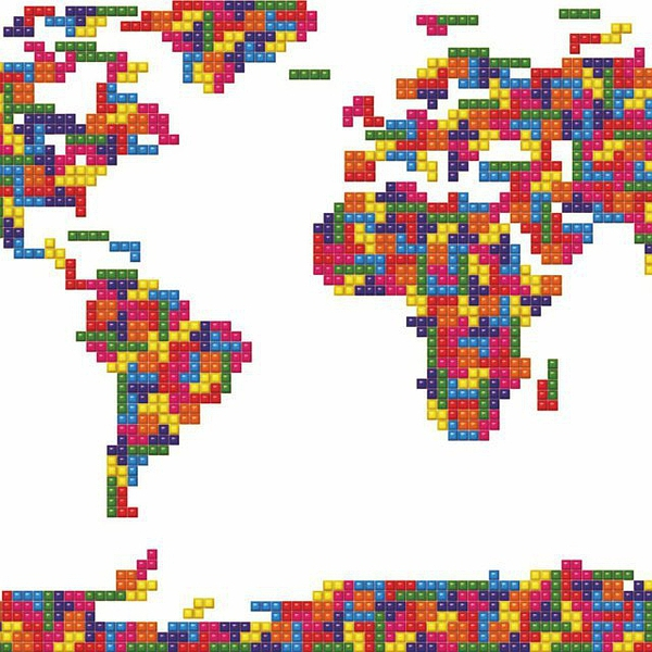Tetris Map of The World的图片