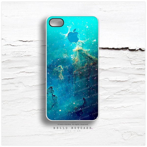 iPhone 5 Case Nebula, iPhone 5s Case Teal, iPhone 4 Case, Aqua iPhone 4s Case, Abstract iPhone Case, Night Sky iPhone Cover T113的图片
