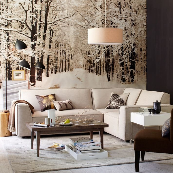 Snowdrift Wallpaper Mural - $469的图片