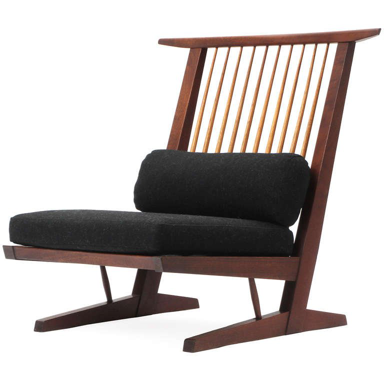 Conoid Lounge Chair | George Nakashima的图片