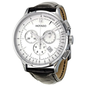 Movado Circa Chronograph White Dial Mens Watch 0606575的图片