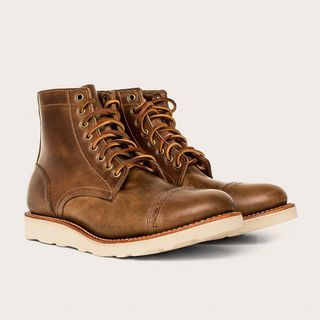Natural Vibram Sole Cap-Toe Trench Boot  by Oak Street Bootmakers