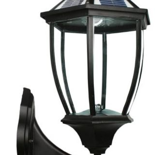 Large Outdoor Solar powered LED Wall Light Lamp 7404的图片