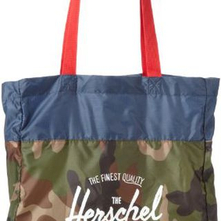 Herschel Supply Co. Packable Travel Tote, Woodland Camo/Navy/Red, One Size