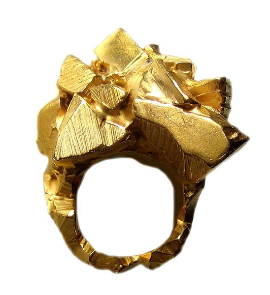 Cubes of Gold Ring | Imogen Belfield